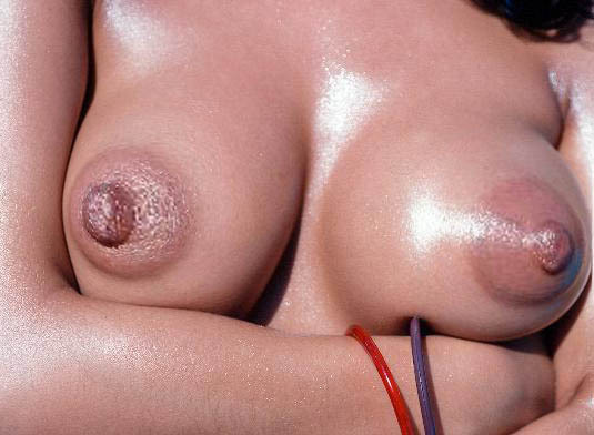 Extreme large puffy nipples